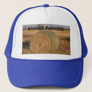 Hatt för Kansas bondelastbilsförare med en höbal Truckerkeps