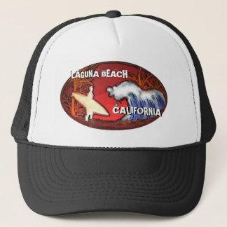 Hatt för konst för Laguna strandKalifornien surfar Truckerkeps