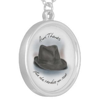 Hatt för Leonard 1 Silverpläterat Halsband