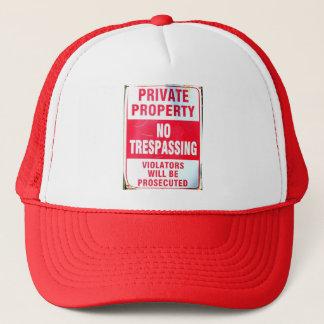 hatt för privat egendom truckerkeps