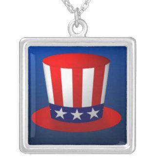 Hatt för Uncle Sam Silverpläterat Halsband