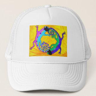 Hatt - Groovy tropiska ödlor för lock Truckerkeps