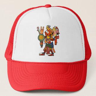 Hatt med den Mayan indiska krigare Keps