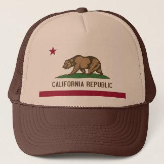 Hatt med den statliga flagga av Kalifornien - USA Truckerkeps
