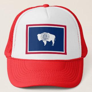 Hatt med den statliga flagga av Wyoming - USA Truckerkeps
