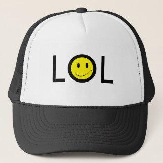 Hatt~-Texting mod LOL med Retro smiley face Truckerkeps