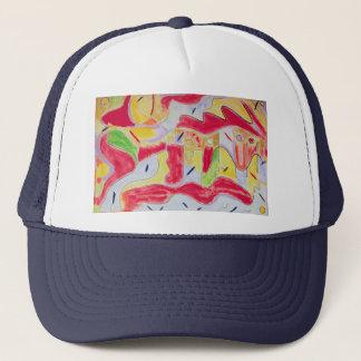 Hatt - unik gåva - abstrakt design truckerkeps