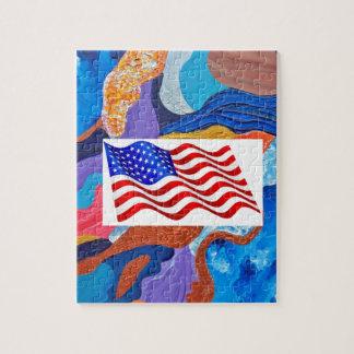 Hattamerikanska flaggan pussel