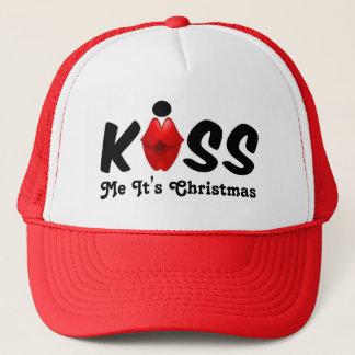 Hatten kysser mig som det är jul truckerkeps