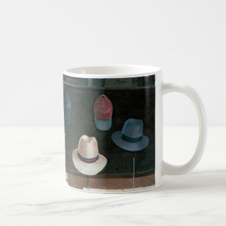 Hatten shoppar 1990 vit mugg