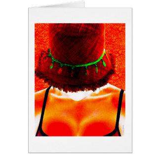 hatten tar en helgdag hälsningskort