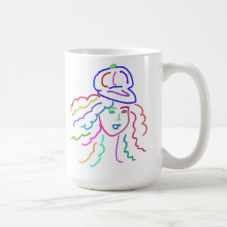 Hattflicka fem kaffemugg