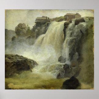 Haugfoss i norgen, 1827 affisch