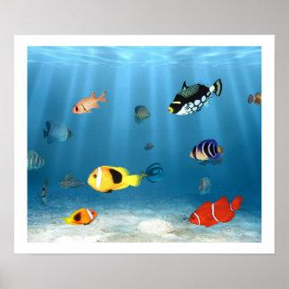 Hav av fisken posters