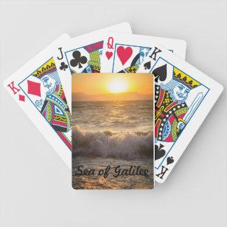 Hav av Galilee som leker kort Spelkort