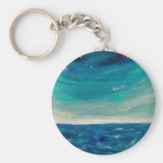 Hav beskådar rund nyckelring