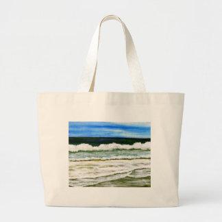 Hav elegans - konst för havsurfastrand tote bags