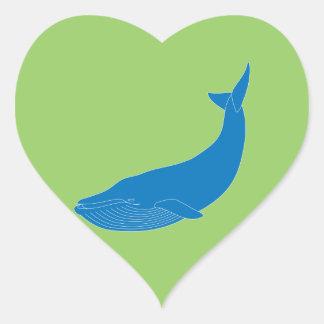 Hav för djurliv för däggdjur för blåttval marin- hjärtformat klistermärke
