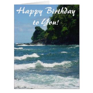 Hav för grattis på födelsedagenvykortblått från jumbo kort