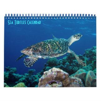 Hav för korall för barriärrev för Hawksbill Kalender
