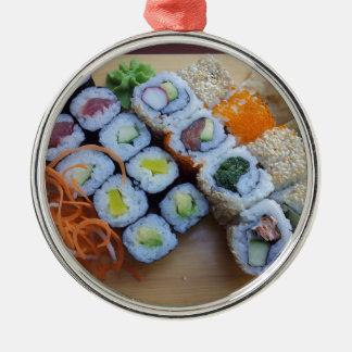 Hav för mat för fisk för SushiAsien ris Julgransprydnad Metall