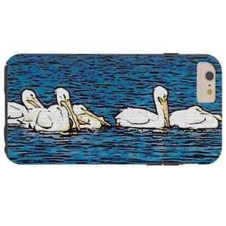 Hav för strand för djur för pelikanfågeldjurliv tough iPhone 6 plus fodral