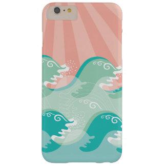 Hav för strand för sommar för tropisk rosa solAqua Barely There iPhone 6 Plus Fodral