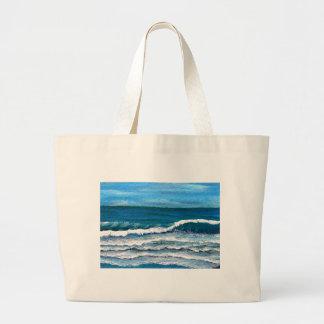 Hav för surfa för dekoren för konst för havshärlig tote bags