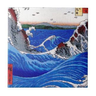 Hav Hiroshige 歌川広重 Liten Kakelplatta