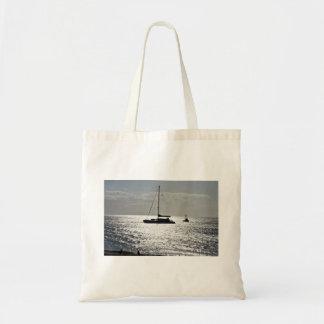 Hav med fartyg tote bags