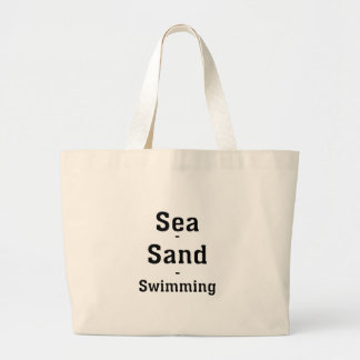 Hav - Sand - simning Jumbo Tygkasse
