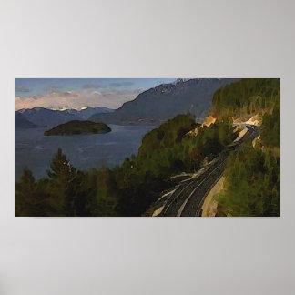 Hav till himmelhuvudvägen till Whistler Poster