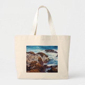 Hav vinkar på kusten tygkassar