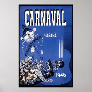 Havana karnevalvintage resor 1946 poster