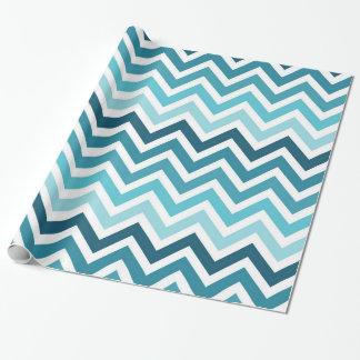 Havblåttsparre Ombre som slår in papper Presentpapper