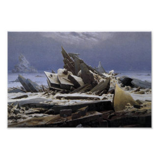 Havet av is av Caspar David Friedrich Poster