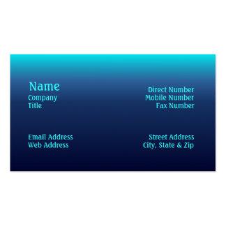 Havet tonar visitkorten set av standard visitkort