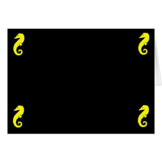 HavGlow_Yellow Seahorse 4 tränga någon Hälsningskort