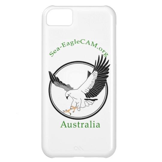Havs-EagleCAMlogotypen ringer jag fodral iPhone 5C Fodral