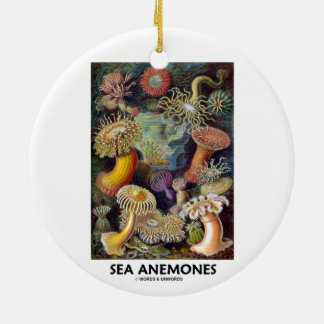 Havsanemoner Rund Julgransprydnad I Keramik