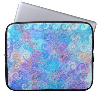 Havsblåttkrullning Laptop Sleeve