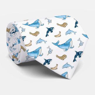 Havsdäggdjurmönster Slips