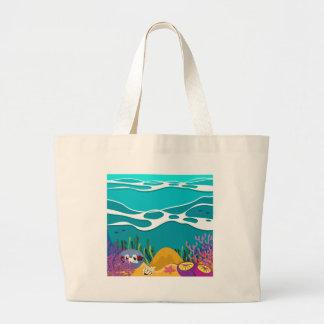 Havsdjur under hav jumbo tygkasse