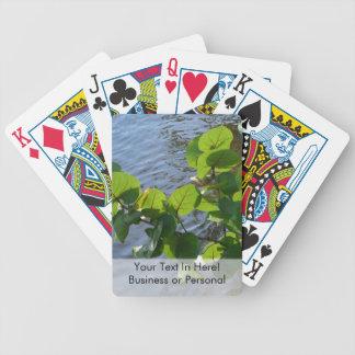 havsdruvalöv över floden planterar den florida spelkort