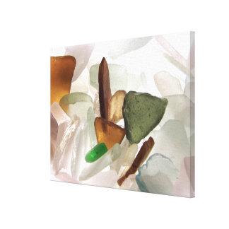 Havsexponeringsglas eller strandexponeringsglas canvastryck