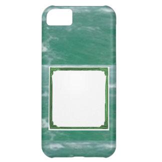 Havsgröntgränsen avbildar/texthållaren iPhone 5C fodral