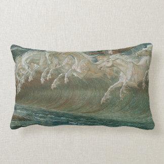 Havshästar och Poseidon Prydnadskudde