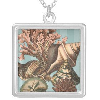 HavslivSilhouette Silverpläterat Halsband