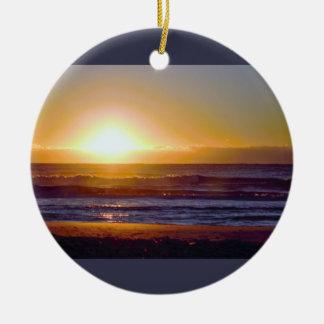 Havsoluppgångfoto Julgransprydnad Keramik