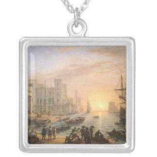 Havsport på solnedgången, 1639 silverpläterat halsband
